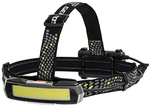 GENTOS(ジェントス) LED ヘッドライト USB充電式 【明るさ600ルーメン/実用点灯2.5時間/COB(発光面)LED/後部認識灯】 専用充電池または単3形電池3本使用 NRX-180H ANSI規格準拠