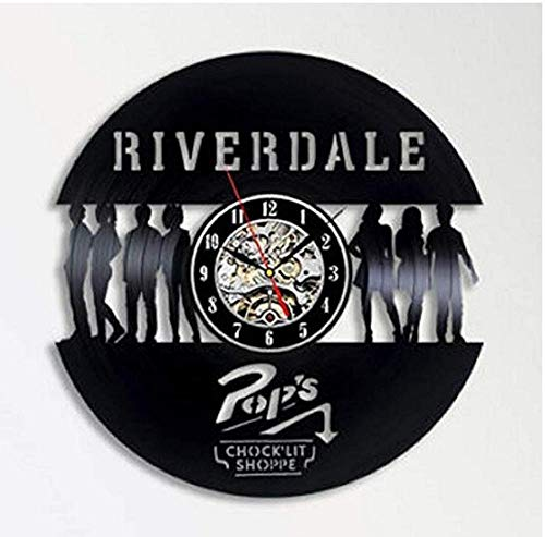 Vinilo Pared Reloj Falda Corta Mujer Disco Retro un Reloj de Pared Grande con un Tema Regalo Creativo del Reloj de Pared Hecha a Mano 12 Pulgada(Sin Luces)
