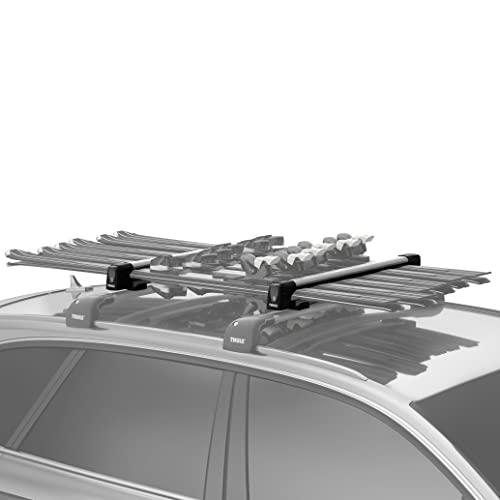 Thule SnowPack L, Porte-skis élégant et aérodynamique, conçu pour tout type de skis et de snowboards.