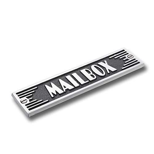 The Metal Foundry Mailbox Metal Door Sign. Art Deco Style Home Décor Accessories Door Or Wall Aluminium Plaque. Handmade in England.