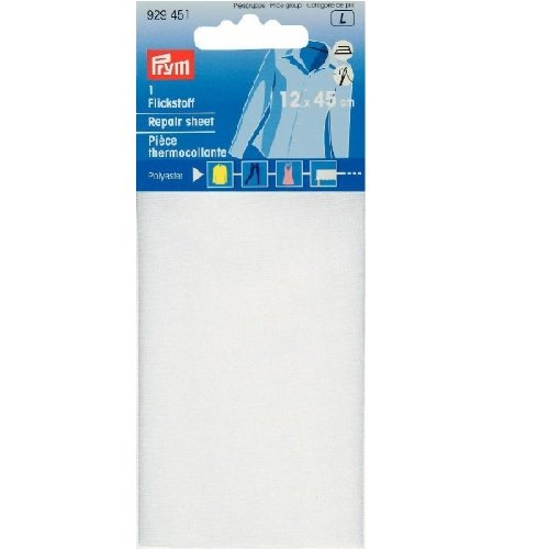 Flickstoff Polyester weiß 12 x 45 cm zum Bügeln