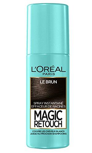 L'Oréal Paris Spray Instantané Correcteur de Racines & Cheveux Blancs, Magic Retouch, Brun, 75 ml