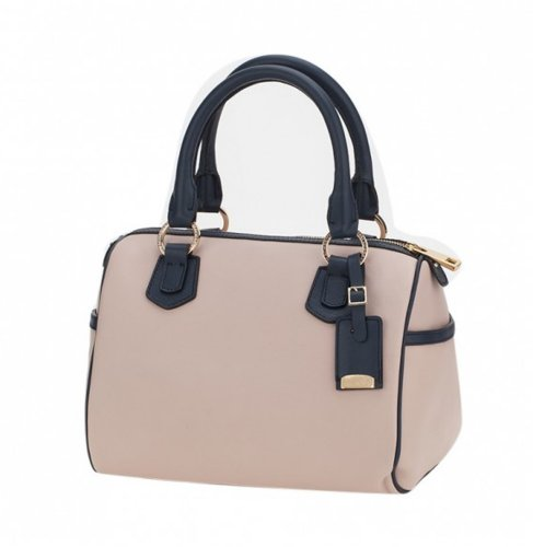 Ismachseven Andrea Handbag -Light pink with blue