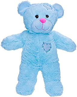 BEAREGARDS.COM Personalized Long Message Recordable 15 Inch Blue Talking Teddy Bear with 30 Seconds of Recording Time.