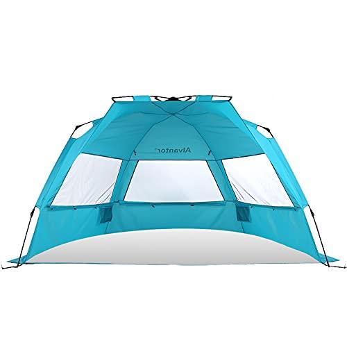 Alvantor Beach Tent Super Bluecoast Beach Umbrella Outdoor Sun Shelter Cabana Pop-Up UPF 50+ Sun shade Portable Camping Fishing Hiking Canopy Light...
