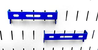 Wall Control Pegboard 1in x 4in C-Bracket Slotted Metal Pegboard Hook for Wall Control Pegboard and Slotted Tool Board – Blue