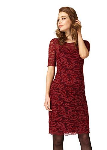 Queen Mum Robe d'allaitement pour femme enceinte - Manches 3/4 - 91645 - Rouge - 42