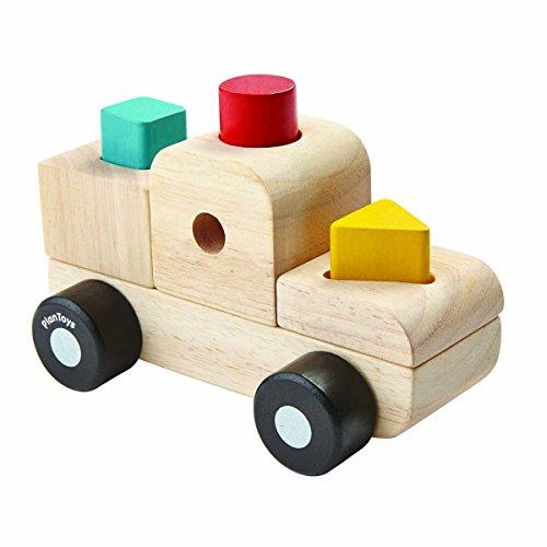 PlanToys- Sorting Puzzle Truck, PT5433, Bois