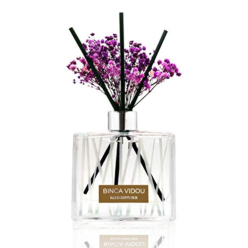 Binca Vidou Lavender Reed Diffuser Set for Home & Office 200ml/6.76oz Long-Last for More Than 180 Days