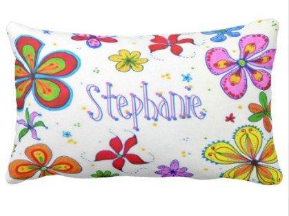 Perfecone Home Improvement - Funda de almohada para sofá y coche, diseño de flores grandes, 1 paquete de 50 x 90 cm