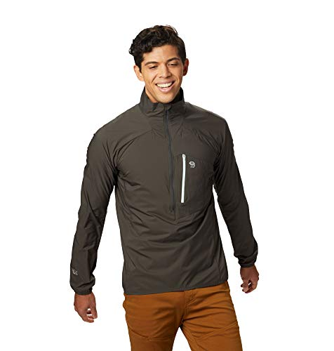 Mountain Hardwear KOR Preshell Pullover Men's Lightweight Jacket Windbreaker for Running, Hiking, Climbing, and Everyday - Void - Large