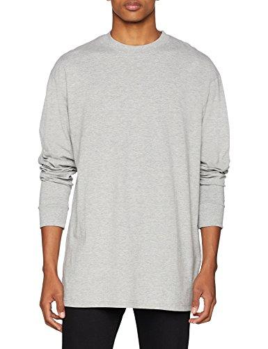 Urban Classics Tall Tee L/S T-Shirt, Grau (Grey 00111), 5XL Uomo