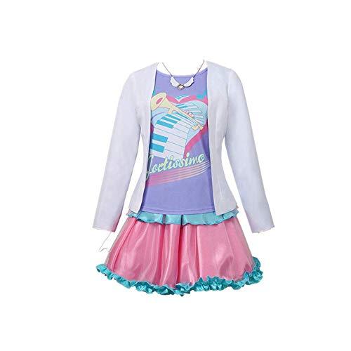 8PCS Bang Dream!Pareo Disfraz de Cosplay Costume Vestido de Uniforme Escolar Diario Conjunto Completo Falda Linda Trajes JK Carnaval de Halloween