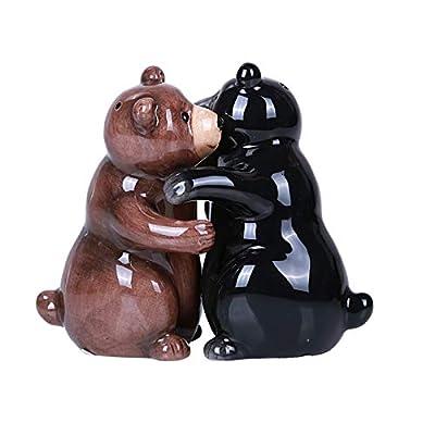 Hugging Bears Magnetic Ceramic Salt and Pepper Shakers Set by PT