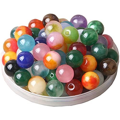 colori pietre preziose 100 Pezzi Pietre Preziose Rotonde Perline di 10mm