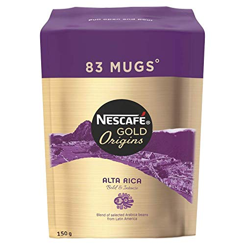 NESCAF? GOLD ORIGINS Alta Rica Instant Coffee Refill, 150 g (Pack of 6)