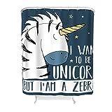 LAOAYI Tier Pferd Bedruckt Duschvorhang Modern hochwertige Qualität Shower Curtain Pferd Badewannenvorhang für Badewanne Best Gift for Children White 180x200cm