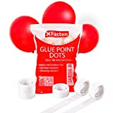 XFasten Balloon Glue Point Dots Clear, Removable, 2500 Pcs (25 Rolls), Balloons Arch Tape Adhesive | Craft Tape Dots for Party Balloons, Birthday, Baby Shower, Wedding Decoration and Scrapbooking