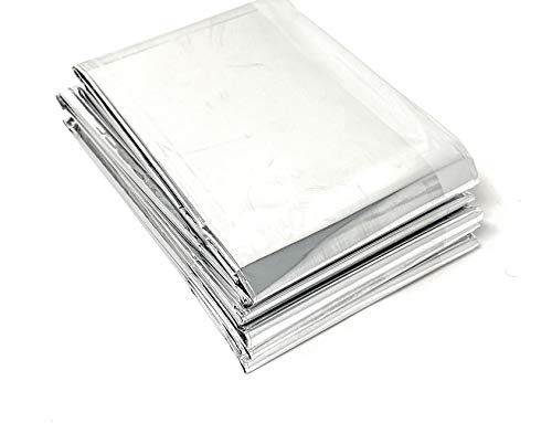 Lot of 50 Emergency Foil Mylar Thermal Blanket , 52  x 84 , Useful for Homeless care , Charity,natural disasters, hurricane relief, emergency supplies (each Individually wrapped)