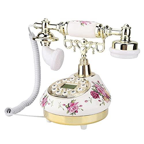ZHPBHD Teléfono Retro teléfono Fijo Vintage Antiguo Teléfono Teléfono de Escritorio con Cable FSK Fijado FSK y DTMF Identificación de la Persona Que Llama Teléfono para Home Office Hotel