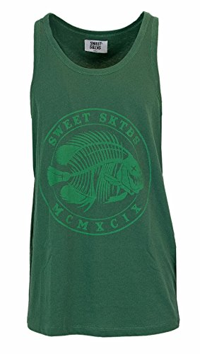SWEET SKTBS Canotta Uomo Tank Top Penny Fish Circle 1900059002 s Verde