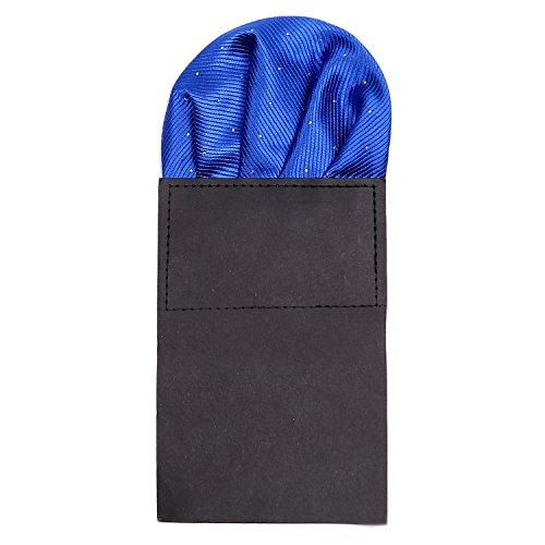 DonDon Herren Einstecktuch vorgefaltet für den perfekten Sitz blau