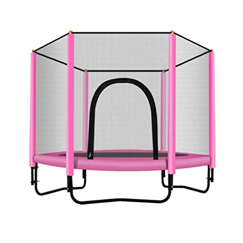 Toddler Trampoline for Kids with Net, 60in Kids Trampoline with Enclosure, Mini Trampoline Max Load 500lbs (Color : Pink)