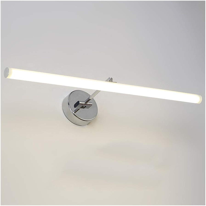 &Spiegelleuchte Led Spiegel Scheinwerfer, Einfache Anti-Fog Wasserdichte Spiegel Kabinett Badezimmer Lampe Verstellbare Spiegel Scheinwerfer (Farbe   Neutrales Licht-41CM 8W)