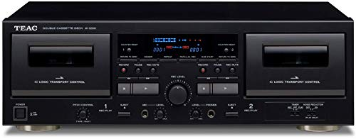 New Teac W-1200 Dual Cassette Deck with Recorder/ USB/ Pitch/ Karaoke-Mic-in and Remote (Renewed)