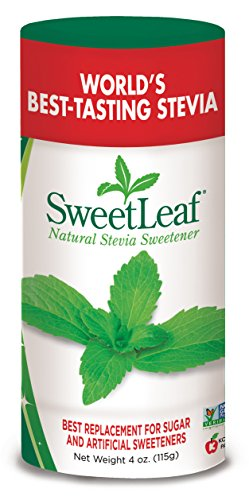 Sweetleaf Natural Stevia Sweetener Powder, 4 Ounce Shaker