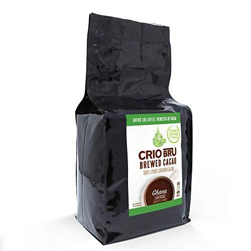 Crio Bru Ghana Light Roast Organic Herbal Tea Coffee Alternative Substitute 99% Caffeine Free Gluten Free Honest Low Calorie Energy Boost (10oz)