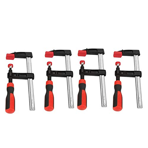 4Pcs Abrazaderas para Trabajar la Madera Sargentos de Barra 50 x 150mm Kit de Herramientas de Carpintería Madera