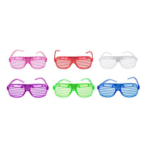 UltraByEasyPeasyStore Gemengde kleuren knipperende LED-shutter bril Glow Slotted plastic lampen Rave