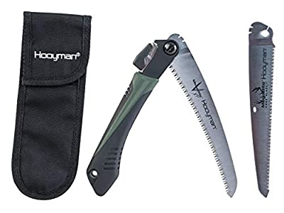 Hooyman MegaBite Hunter's Combo Bone Saw and Handsaw with Nylon Sheath for Cutting Trimming Hunting and Camping