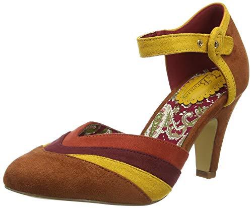 Joe Browns City Chic Colour Block Shoes, Scarpa Mary Jane Donna, Marrone, 35.5 EU
