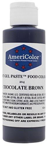 Americolor 4.5 Oz Chocolate Brown Soft Gel Paste