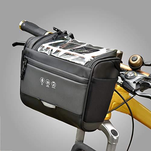 CCKOLE - Bolsa Impermeable para Manillar de Bicicleta, Reflectante, Bolsa para Bicicleta de Carreras, Resistente a rasguños, Bolsa para Cuadro de Bicicleta, Bolsa para Pantalla táctil, Gran Capacidad