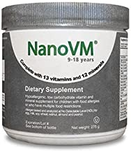 Solace Nutrition NanoVM 9-18 (275g) Flavorless Powdered Hypoallergenic, Carbohydrate Free Vitamin & Mineral Supplement, Designed Specifically For Children with Food Allergies 9-18 Years of Age
