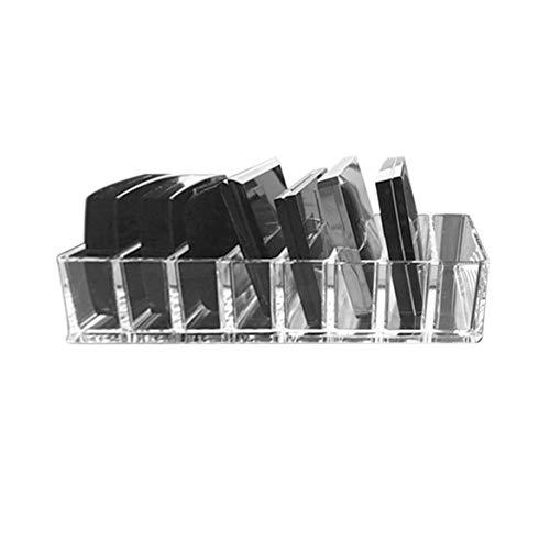Pratique Transparent Acrylique Maquillage Arrangement Boîte De Rangement Porte-Rouge À Lèvres Transparent Multi-Slots Bureau Cosmétique Organisateur - Transparent