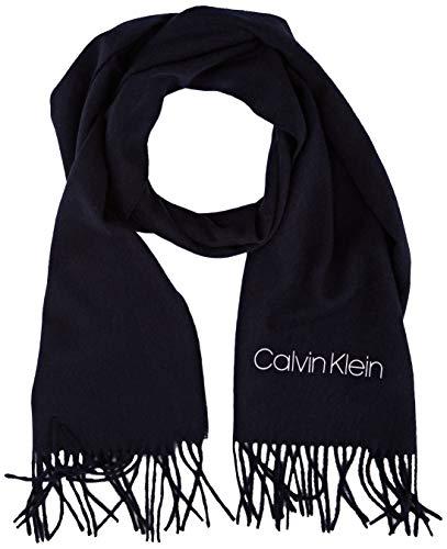 Calvin Klein Woven Scarf 30X185CM Set di Accessori Invernali, CK Navy, Taglia Unica Uomo