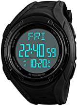 eYotto Mens Sports Watch, Digital Pedometer Watches Fitness Tracker Waterproof Wristwatch Chronograph/Memory/Calorie Tracker for Running Walking Hiking