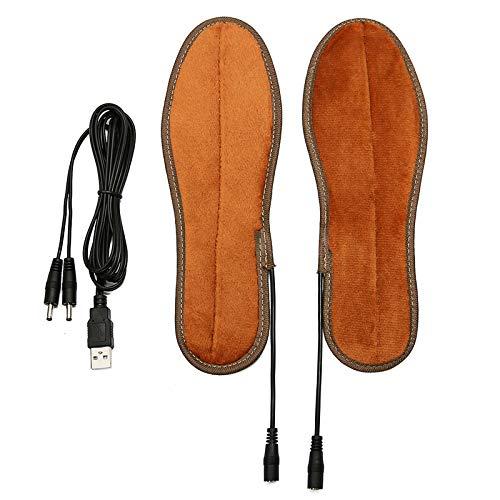 C-FUNN 5V 8W Eléctrico Calentado Zapato Plantilla Calcetines Calientes De Pie Calentador De Invierno USB Más Caliente 36-45 - 38
