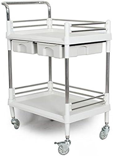 RKY Trolley-Doppelbett Wagen Werkzeugwagen Labor Trolley Multi-Layer-Lager Logistik Tool Auto Office-Regal Multifunktionaler Speicher (Größe   64  44  90cm)