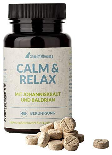 Schnüffelfreunde Calm & Relax Beruhigungsmittel für Hunde, gegen Angst, zur Beruhigung, Anti Stress I Mit Johanniskraut und Baldrian I Nahrungsergänzung für den Hund (ca. 150 Stück)