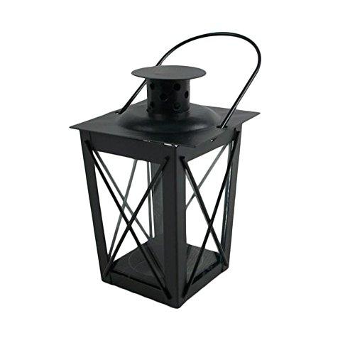 DADA Mini-Lanterne de Bougie en métal avec poignée, pour intérieur et extérieur Noir