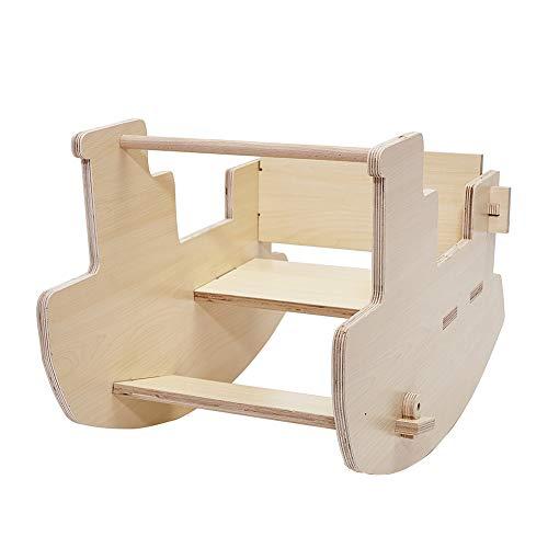 DZJ Tipo di Cavalli a Dondolo in Legno - Sedia a Dondolo Sottomarino in Legno per Bambini Giocattoli educativi interattivi Decorazione della Stanza dei Bambini Sedia a Dondolo