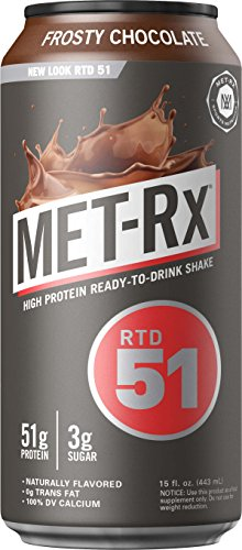 METRx RTD 51 Protein Shake Ready to Drink and Convenient for Meal Replacement Low Carb Frosty Chocolate With Vitamin A Vitamin C Vitamin D and Zinc to Support Immune Health 15 oz 12 Count
