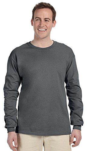Fruit of the Loom 5 oz.Heavy Cotton HD Long-Sleeve T-Shirt (4930) -Charcoal G -XL