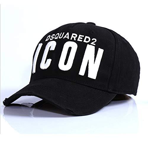 HXXBY Berretto da baseball di visiera in bianco e nero di quattro stagioni cappello da uomo Tide versione coreana del cappello di sole giovinezza marea cappello selvaggio casual cappello sportivo da u