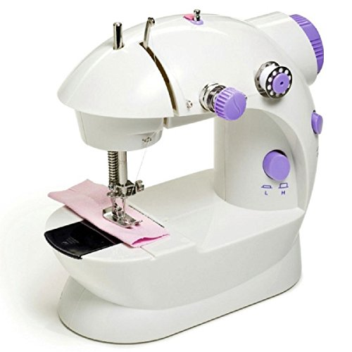 HOBBYCRAFT Mini Sewing Machine with 2 Speed Control, Foot Pedal, Mains or Battery Powered